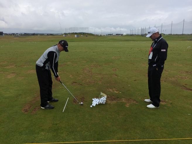 Craig Lea coaching golf